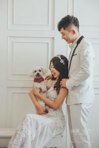 3 kinds of style for fur-babies in your pre-wedding shoot