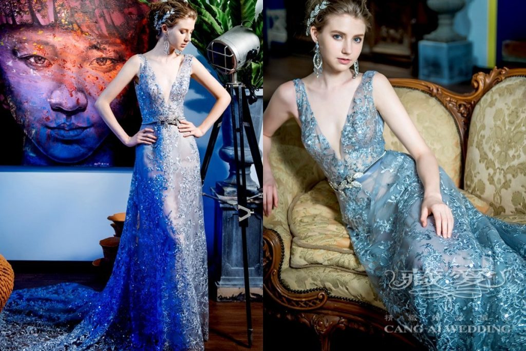 evening gown double 52