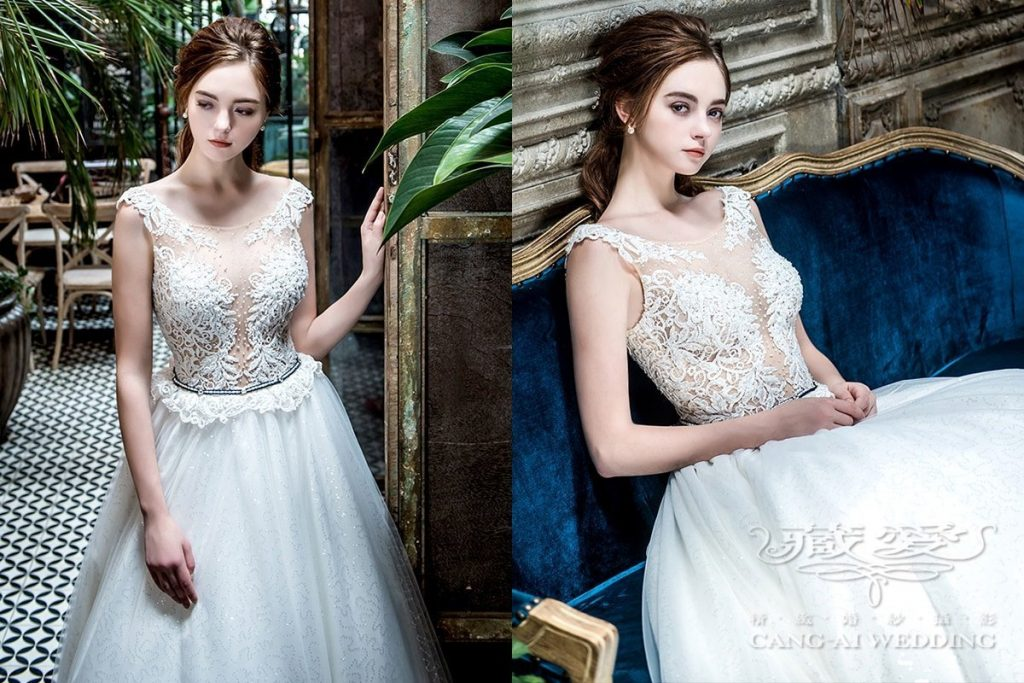 wedding gown double 40