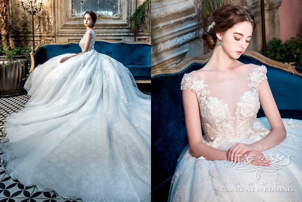 wedding gown double 44
